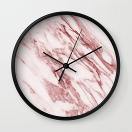 Ripples of Rose and Cream Marble Wall Clock