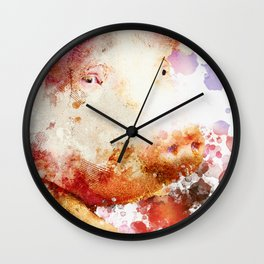 Watercolor Pig, Pig Painting, Pig Decor, Pig Art, Pigs Design Wall Clock
