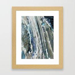 Glacier's Flow Framed Art Print