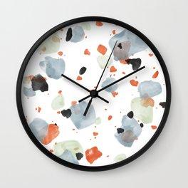 Abstract Brushstroke Terrazzo Pattern 05 Wall Clock