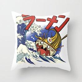 Ramen Ship Throw Pillow