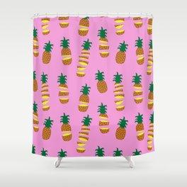 Hawaiian Slice (Pink) Shower Curtain