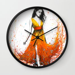 Electric Flame Wall Clock