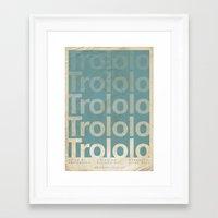 movie posters Framed Art Prints featuring Trololo - Meme Movie Posters by Stefan van Zoggel