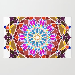 Mandala Flower Pattern Design Rug