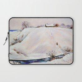 Winter in the village # 2 Laptop Sleeve