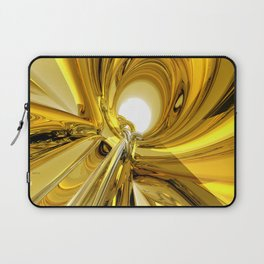 Abstract Gold Rings Laptop Sleeve