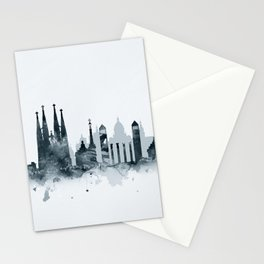 Barcelona Skyline Stationery Cards