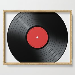 Music Record Serving Tray