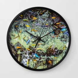 Electric Fish Pond Wall Clock