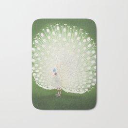 Marvellous Peacock - Vintage Japanese woodblock print Art Bath Mat