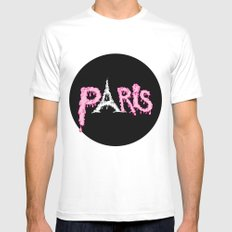 Paris is melting.... White Mens Fitted Tee MEDIUM