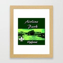 Airline park Framed Art Print