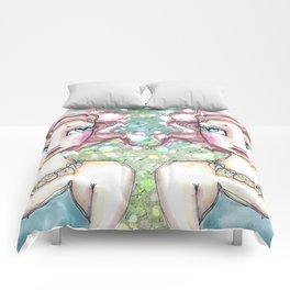 Twin Mermaids with Sand Dollars Comforters