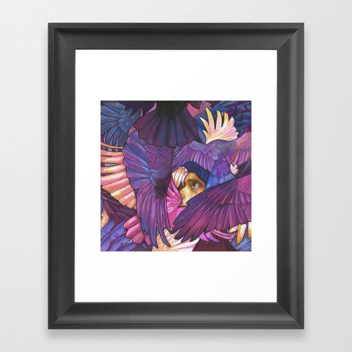A Murder of Ravens Gerahmter Kunstdruck
