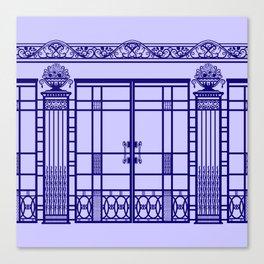 ART DECO, ART NOUVEAU IRONWORK: French Blue Canvas Print