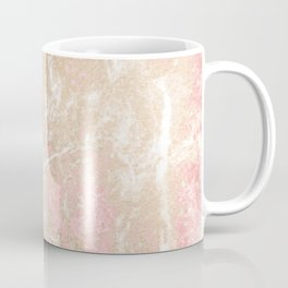Modern coral pink white gold abstract marble Coffee Mug
