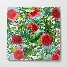 Ruby Roses Collage Metal Print