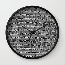 Heathered knit textile 4 Wall Clock