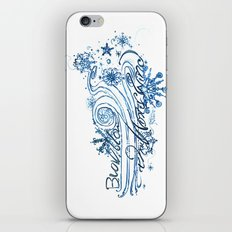 Blow, blow thou winter winds - 12th Night - Shakespeare Quote Art iPhone & iPod Skin