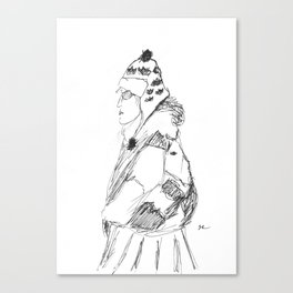 Lady in Winter Canvas Print