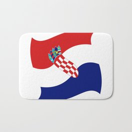 Flag of croatia 4 -croatian, Hrvatska,croat,croacia,Zagreb,split,rijeka,osijek. Bath Mat