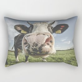 Inquisitive Cow Rectangular Pillow