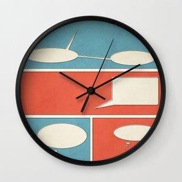 Empty Comic Wall Clock