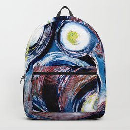 Geysers (Abstract White and Blue Circles) Backpack