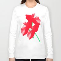 poppies Long Sleeve T-shirts featuring Poppies by Vitta