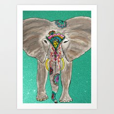 Elephant Trunk Art  Art Print