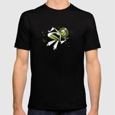 Hallucinating Pluto SMALL Black Mens Fitted Tee