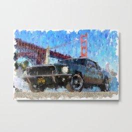 Bullit Mustang Metal Print