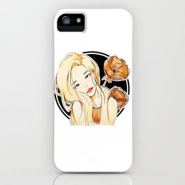 marmalade (black) iPhone Case
