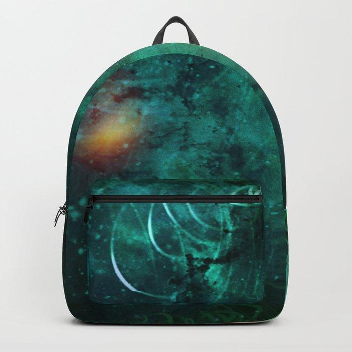 Turquoise Nebula Abstract Backpack