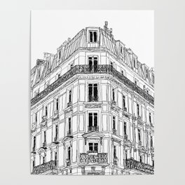 Parisian Facade Poster