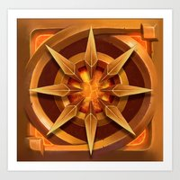 The gold star of the deep torch Art Print