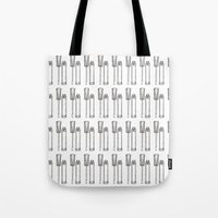 lip Tote Bags featuring Lip Gloss by Young Clerks