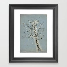 button tree Framed Art Print