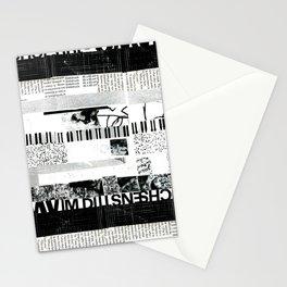 b&w stripes Stationery Cards