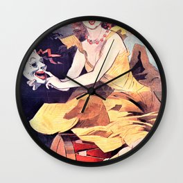 Jules Cheret - Great Exhibition Theater. Children's Palace - Digital Remastered Edition Wall Clock