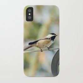 Chick on a line iPhone Case