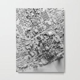 Detroit 3D Map Metal Print