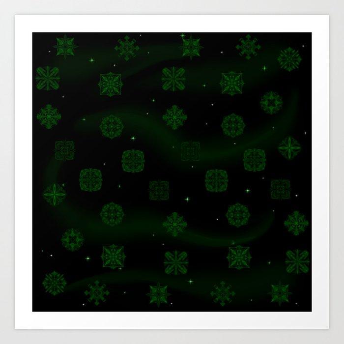 Dark Jungle Gems Art Print