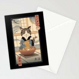 Neko Ramen Ukiyo-e Stationery Cards