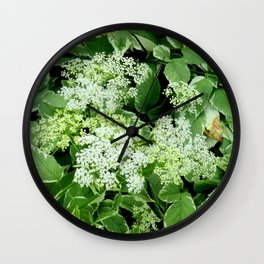 AWESOME DELICATE GREEN LACE FLOWERS Wall Clock