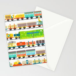 Long Train Stationery Cards