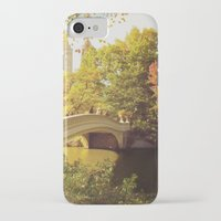 central park iPhone & iPod Cases featuring Central Park by Vivienne Gucwa