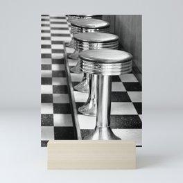 VINTAGE DINER BAR STOOLS - BYGONE ERA Mini Art Print