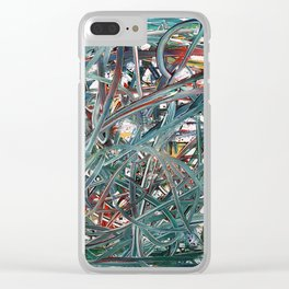 Scramble of disruption Clear iPhone Case